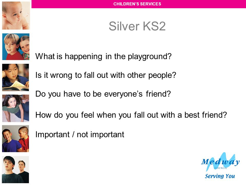 Silver KS2 What is happening in the playground