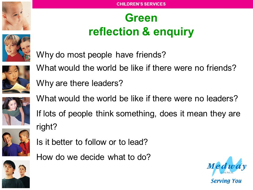 Green reflection & enquiry