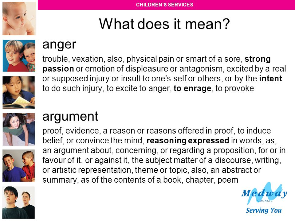 What does it mean anger argument