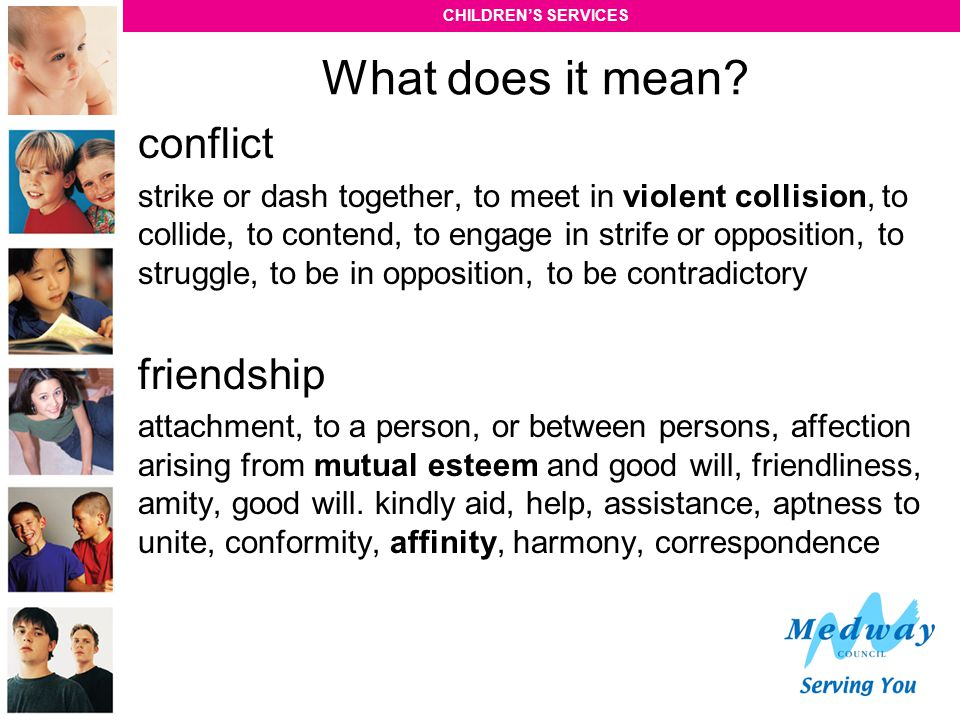 What does it mean conflict friendship