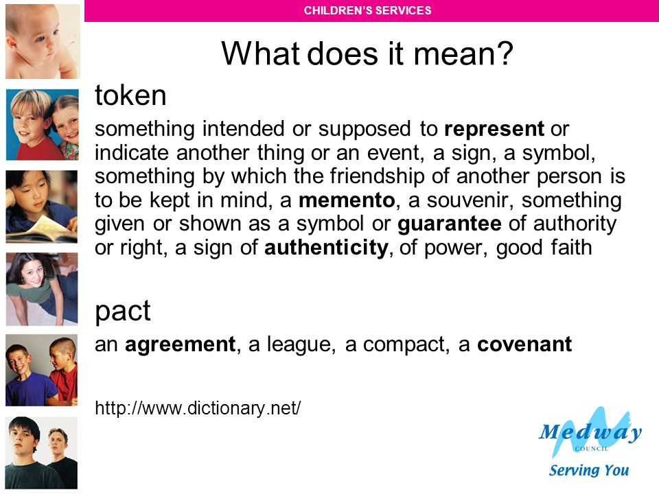 What does it mean token pact