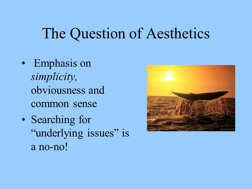 The Question of Aesthetics