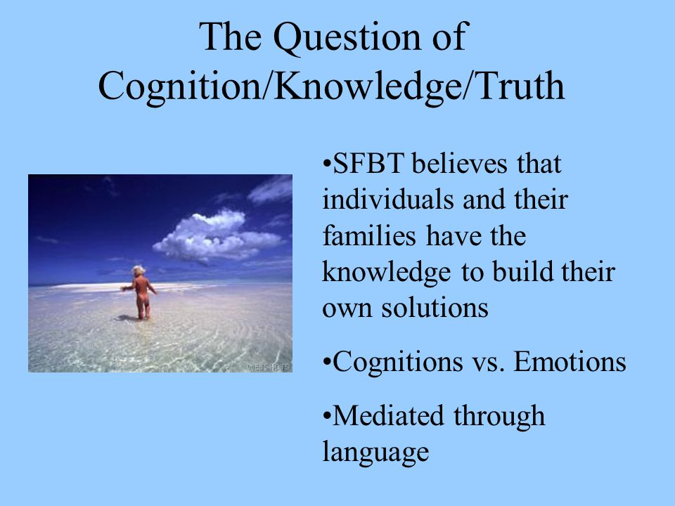 The Question of Cognition/Knowledge/Truth