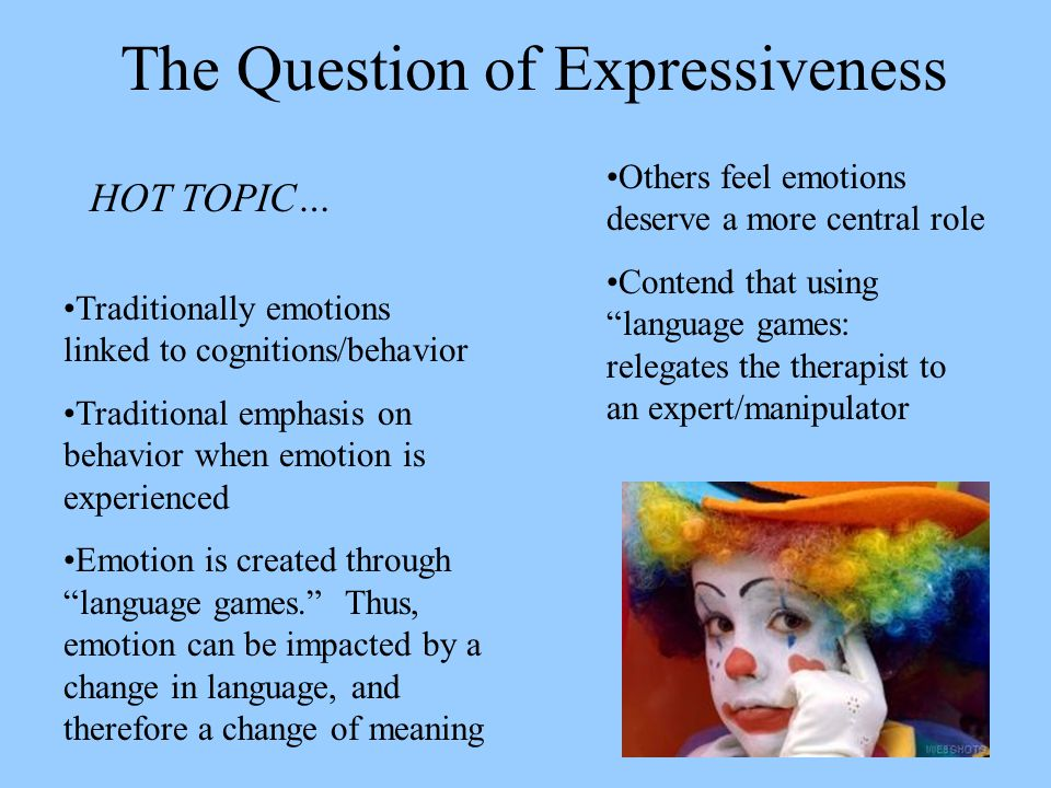 The Question of Expressiveness