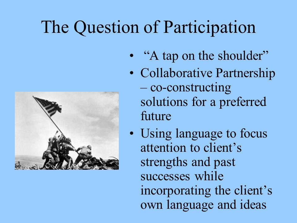 The Question of Participation