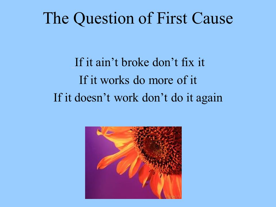 The Question of First Cause