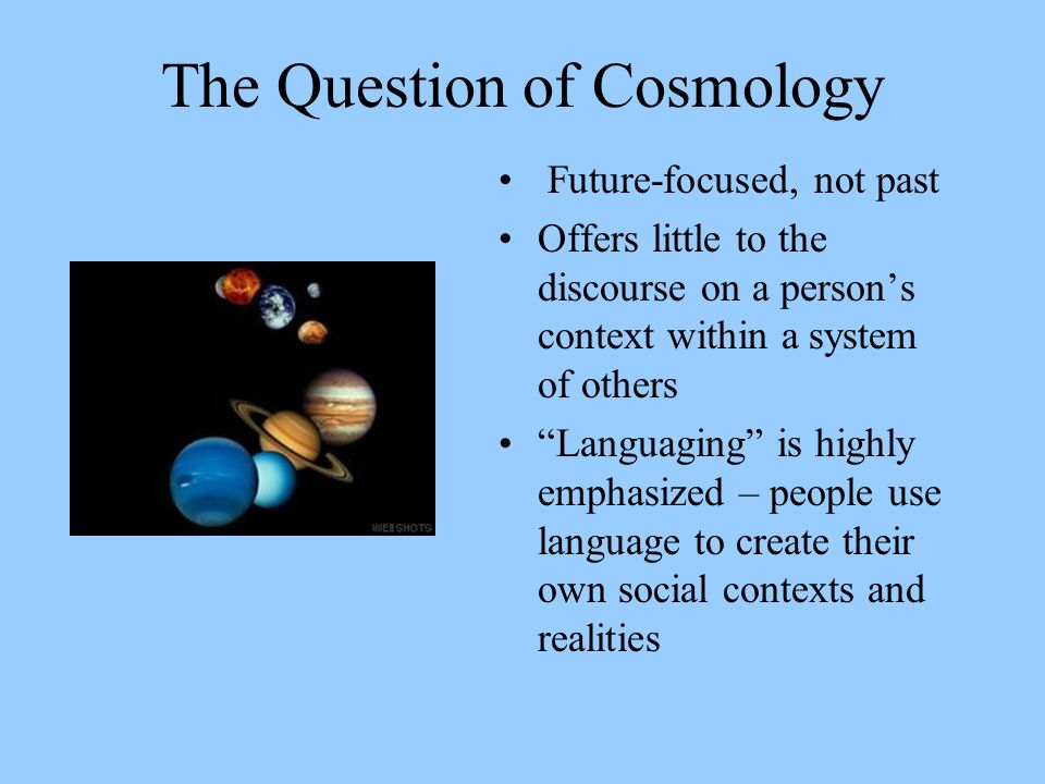 The Question of Cosmology
