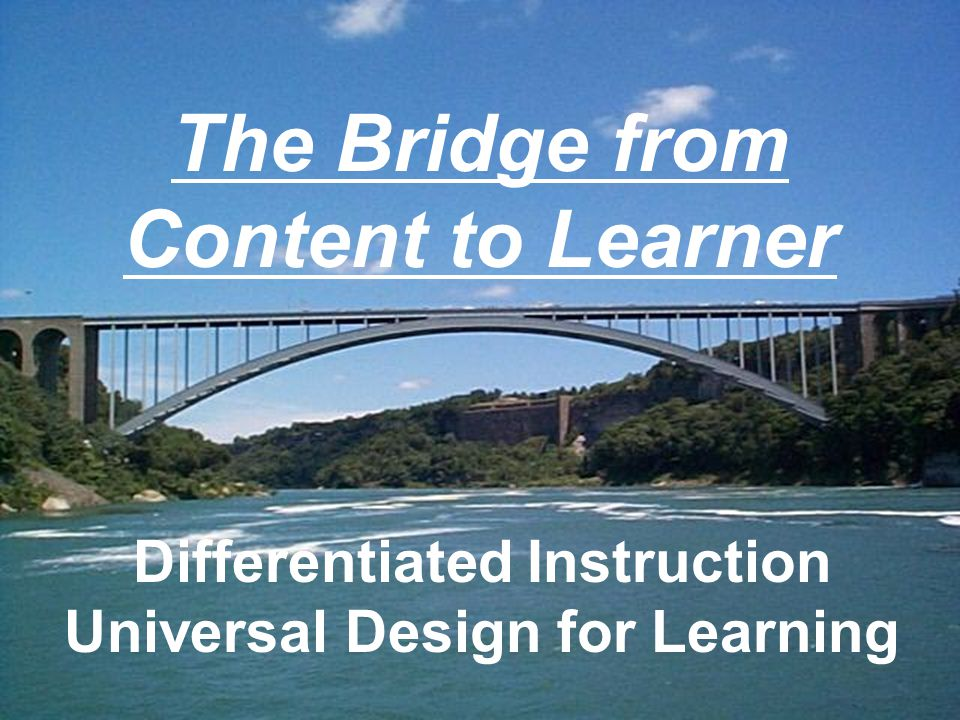 The Bridge from Content to Learner