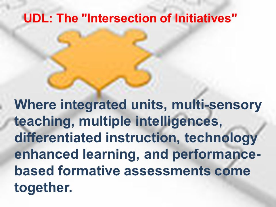 UDL: The Intersection of Initiatives