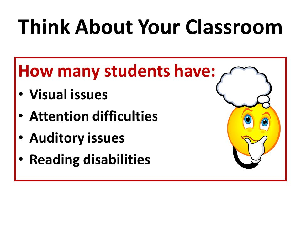 Think About Your Classroom