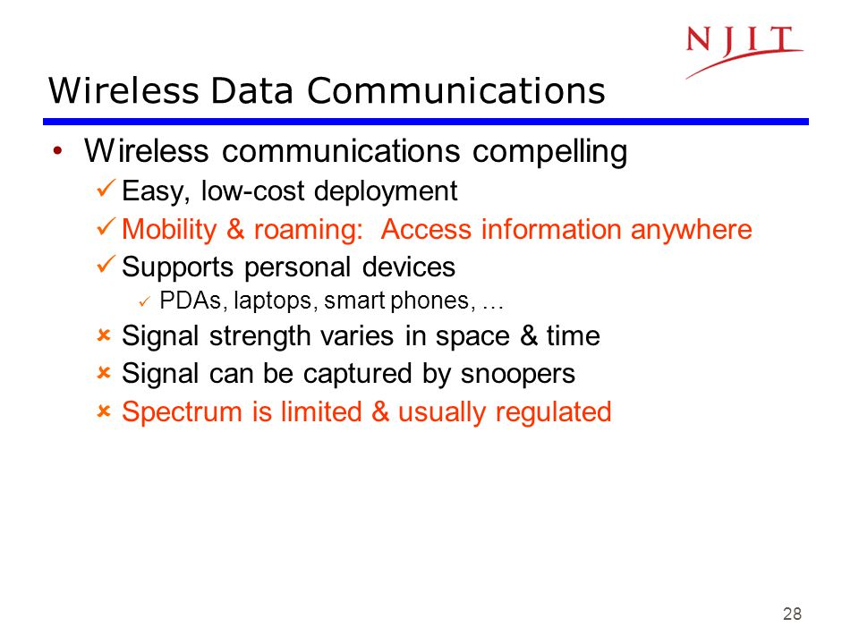 Wireless Data Communications