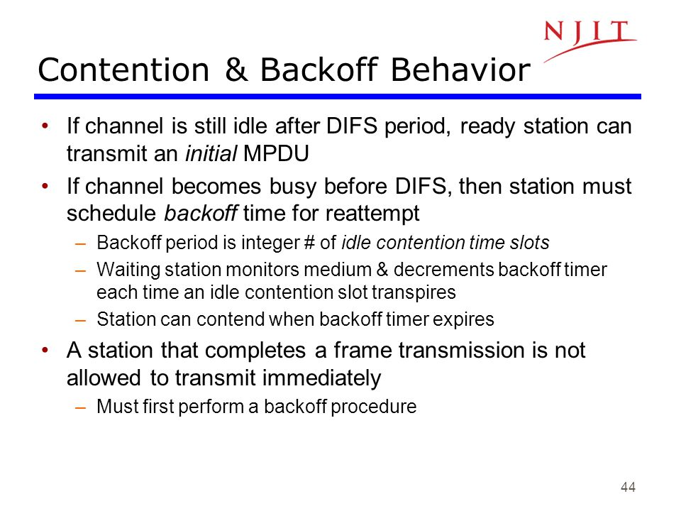 Contention & Backoff Behavior