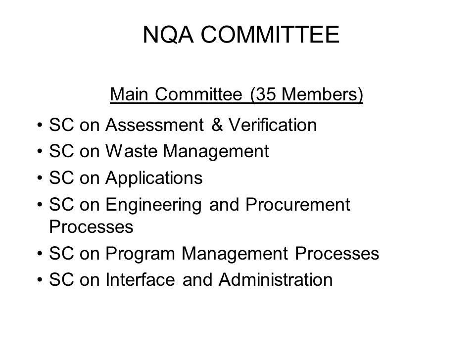Main Committee (35 Members)