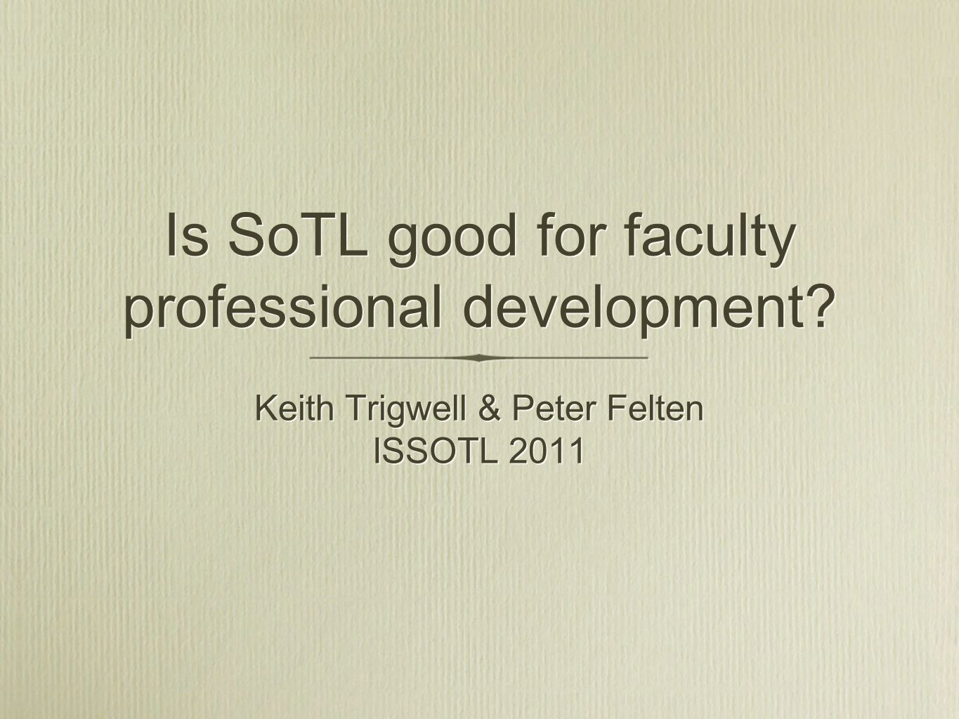 Is SoTL good for faculty professional development