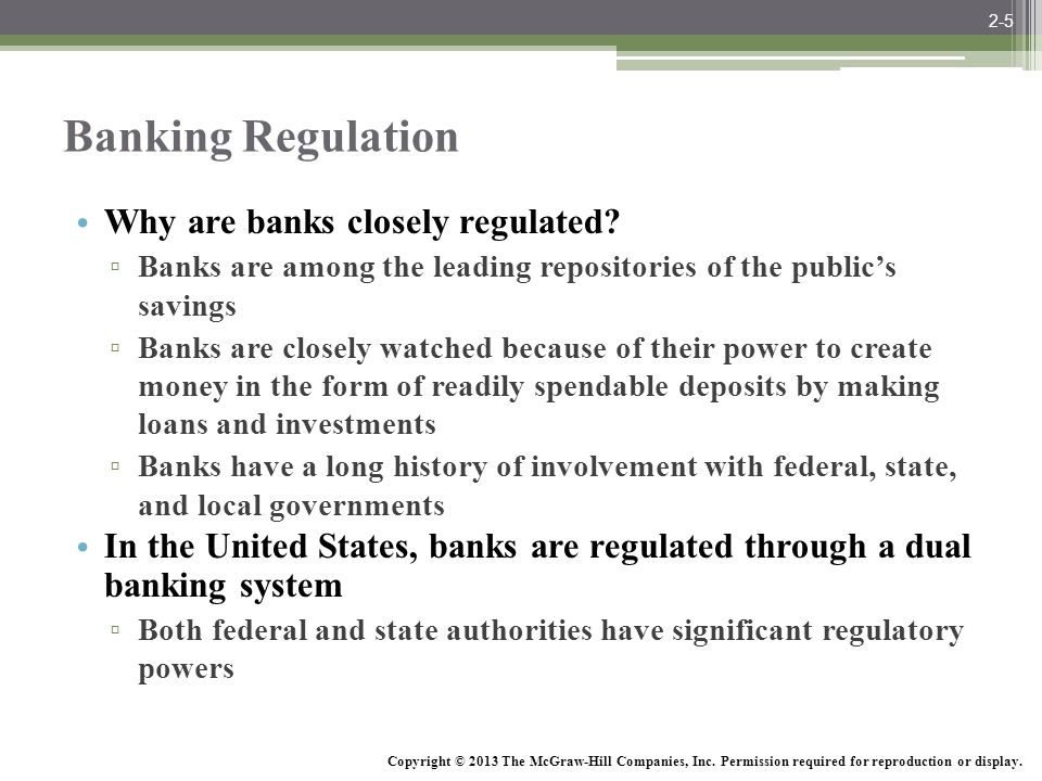 Banking Regulation Why are banks closely regulated
