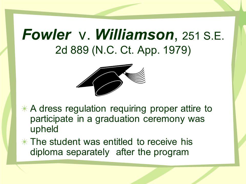 Fowler v. Williamson, 251 S.E. 2d 889 (N.C. Ct. App. 1979)