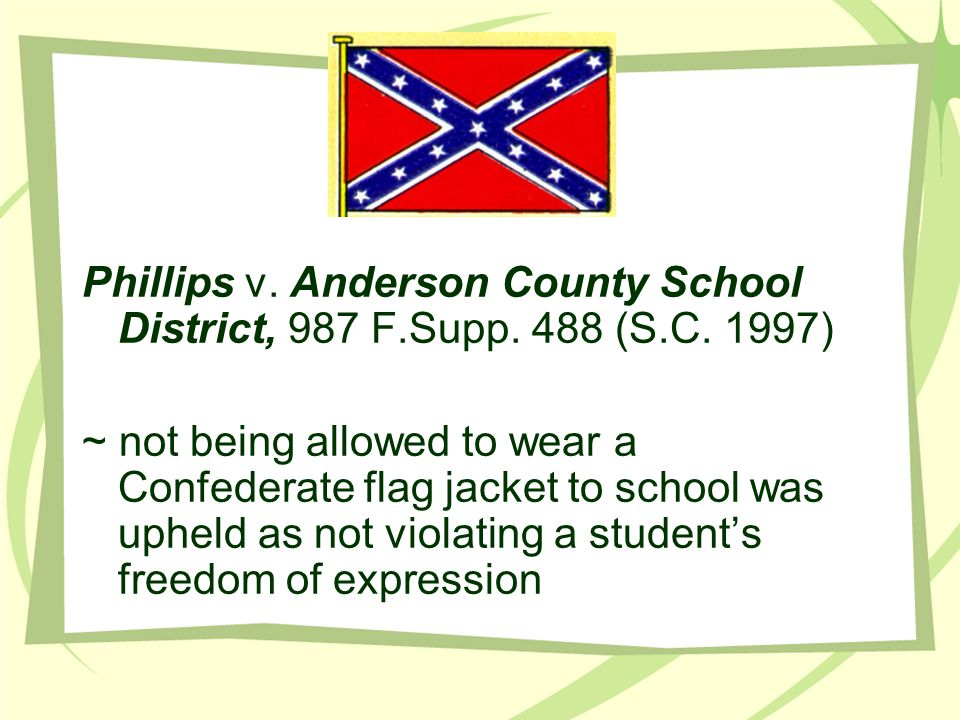 Phillips v. Anderson County School District, 987 F. Supp. 488 (S. C