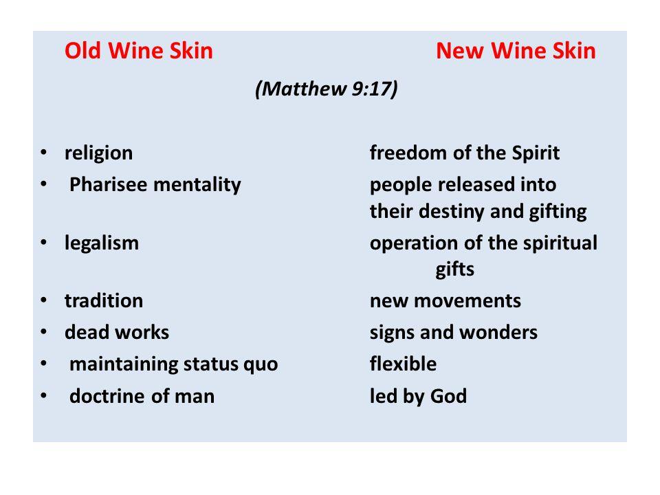 (Matthew 9:17) Old Wine Skin New Wine Skin