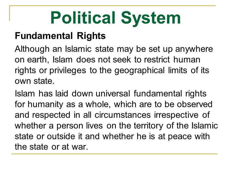 Political System Fundamental Rights