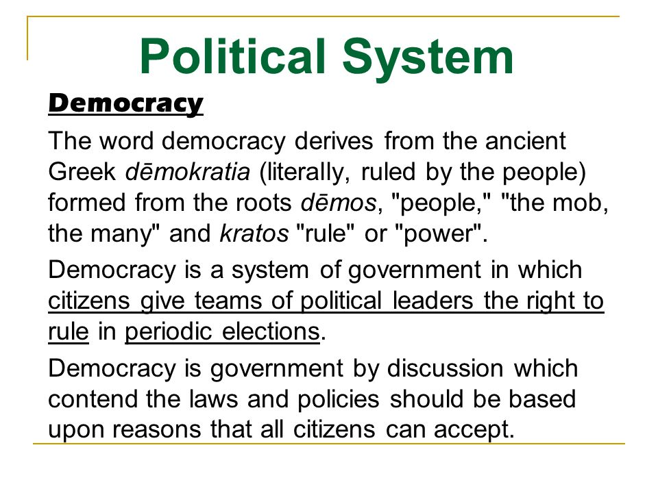 Political System Democracy
