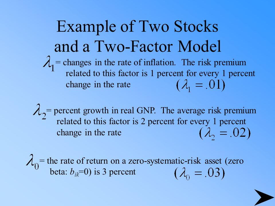 Example of Two Stocks and a Two-Factor Model