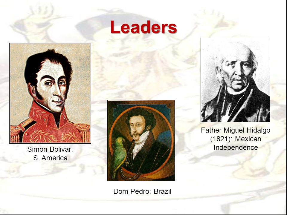 Leaders Father Miguel Hidalgo (1821): Mexican Independence