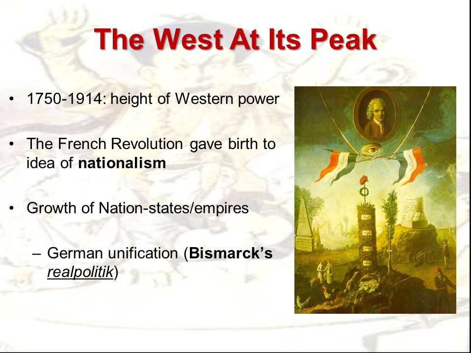 The West At Its Peak 1750-1914: height of Western power