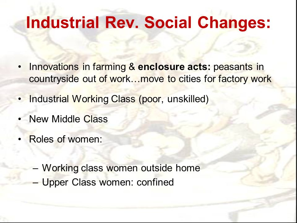Industrial Rev. Social Changes: