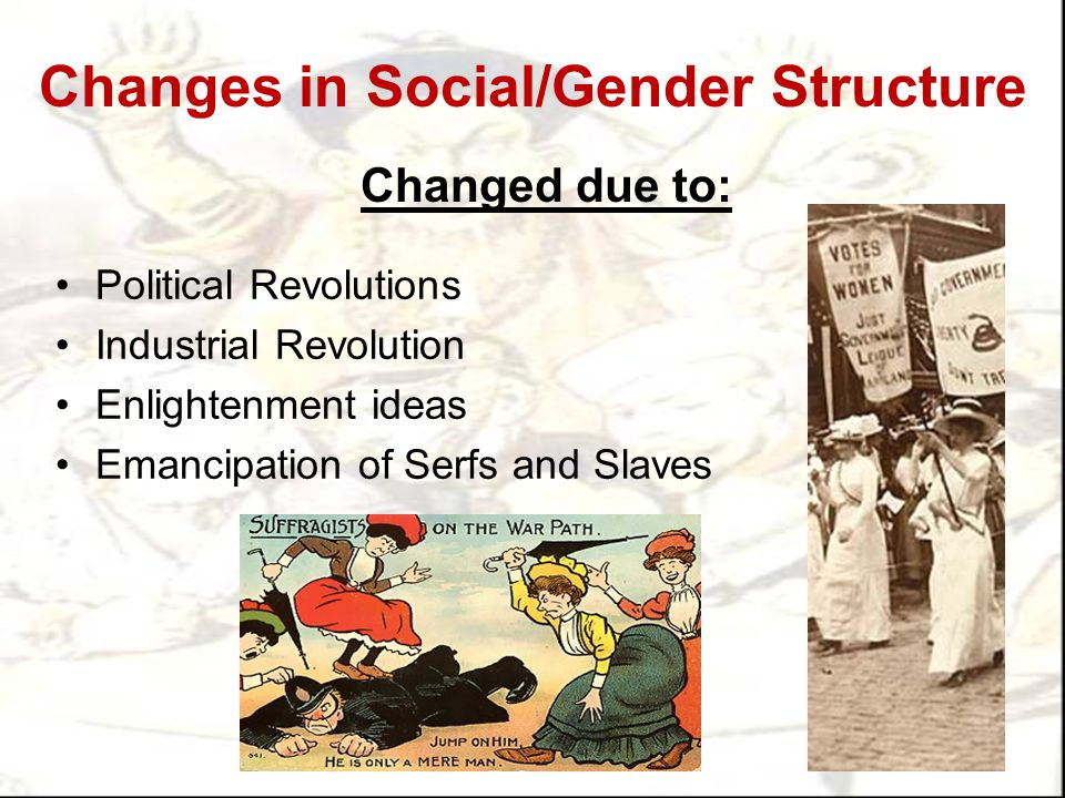 Changes in Social/Gender Structure