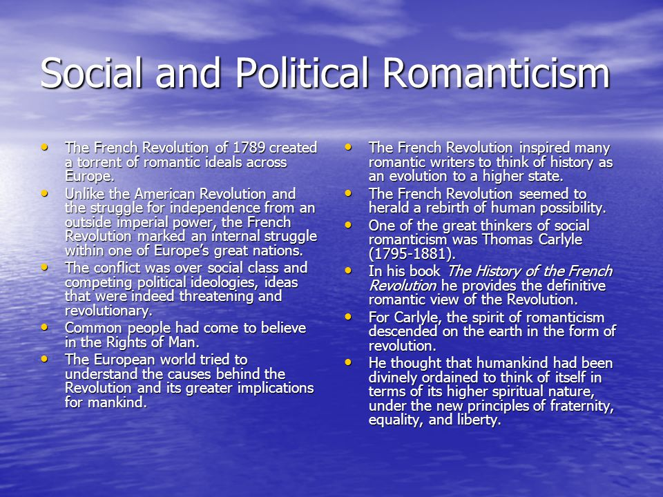 Social and Political Romanticism