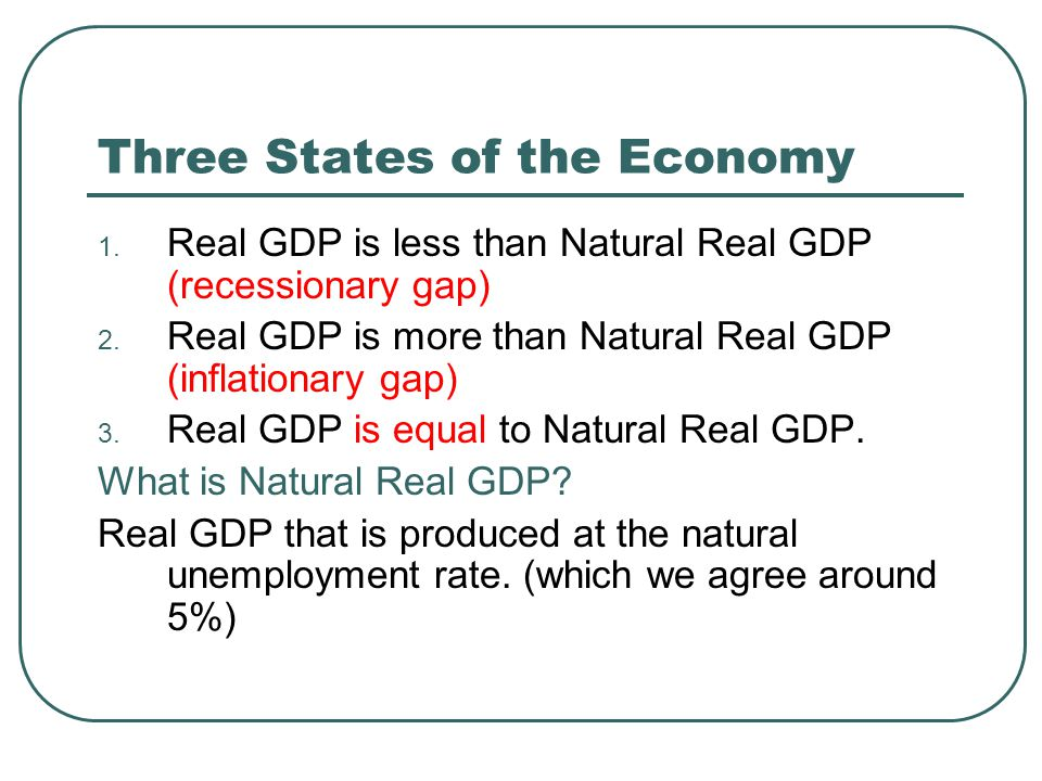 Three States of the Economy