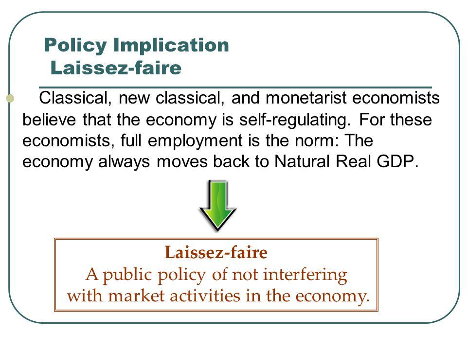 Policy Implication Laissez-faire