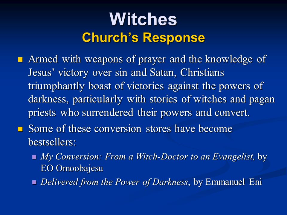 Witches Church's Response