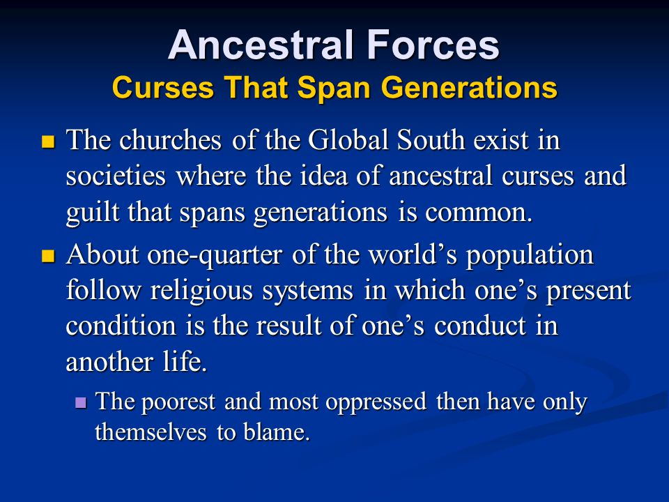 Ancestral Forces Curses That Span Generations