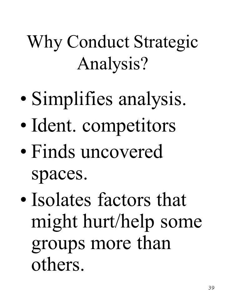 Why Conduct Strategic Analysis
