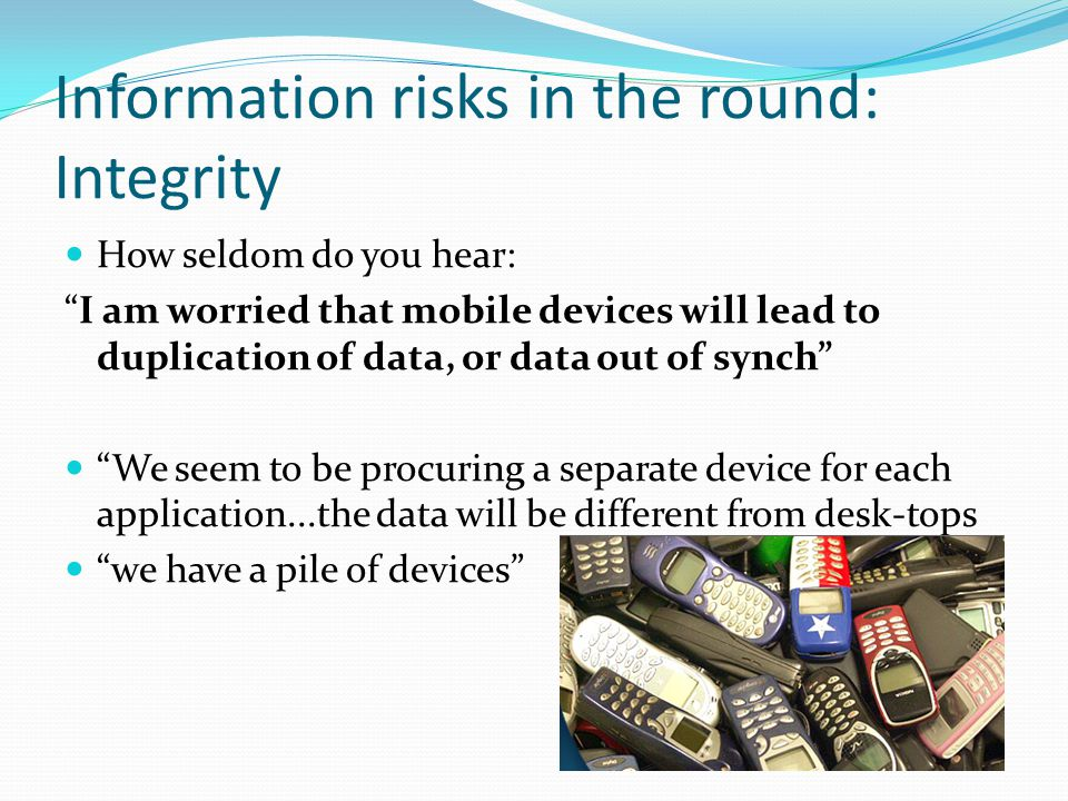 Information risks in the round: Integrity