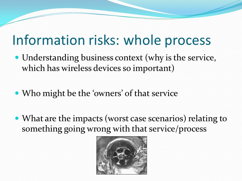Information risks: whole process