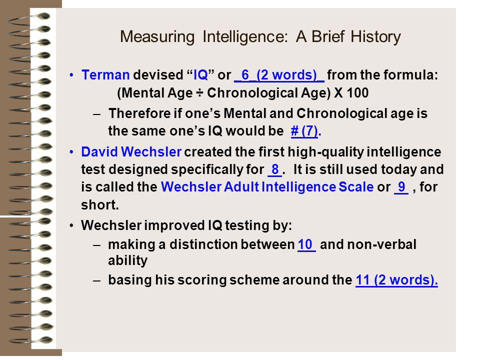 how to measure and interpret intelligence Converted to measures of actual age measurement-24 intelligence and its measurement intelligence is one construct that continues to as you read, how would.