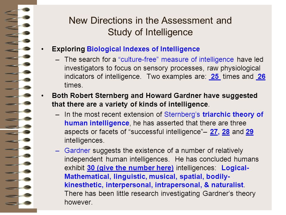 New Directions in the Assessment and Study of Intelligence