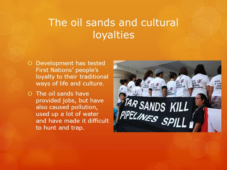 The oil sands and cultural loyalties