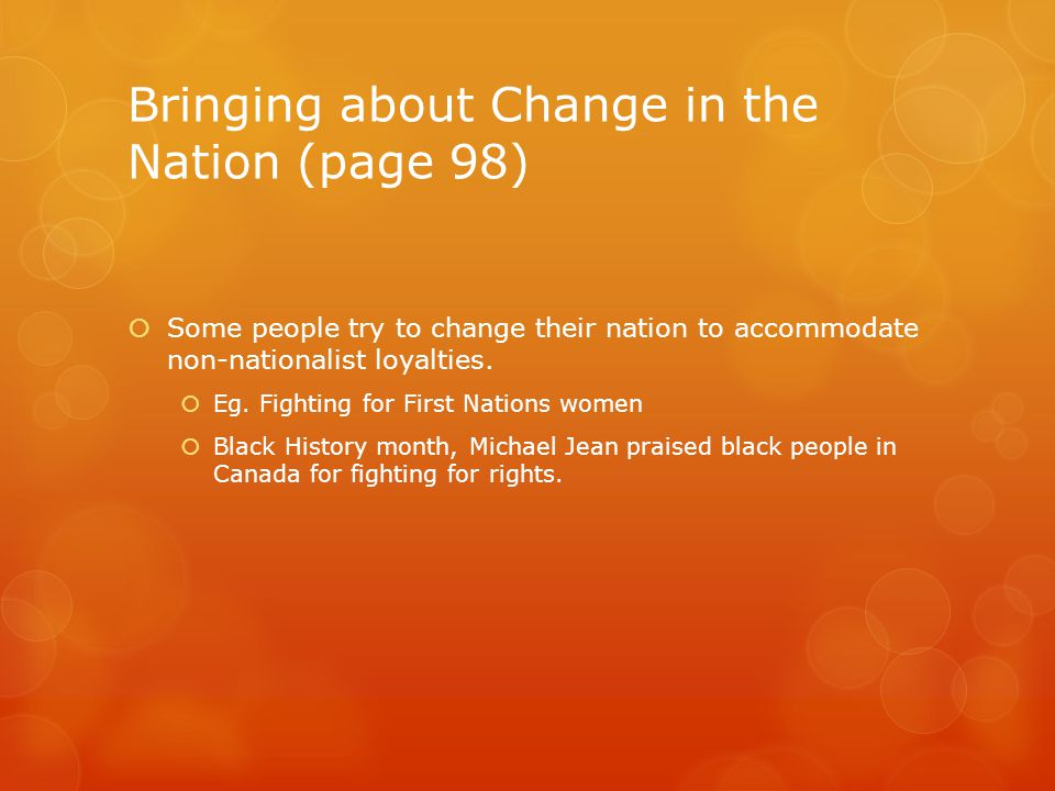 Bringing about Change in the Nation (page 98)