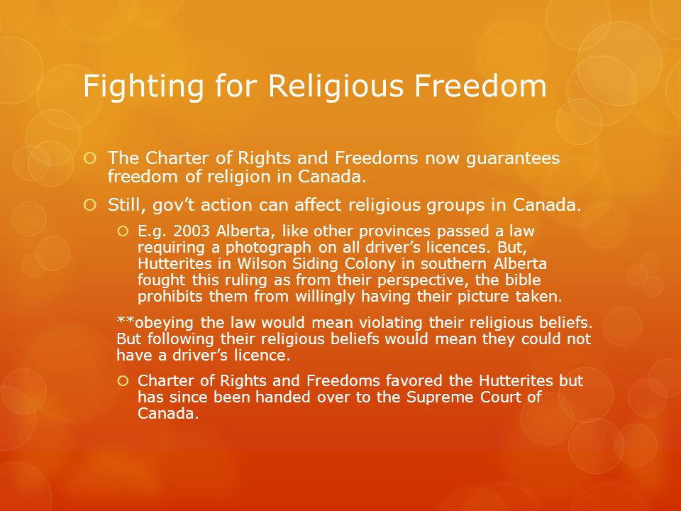 Fighting for Religious Freedom