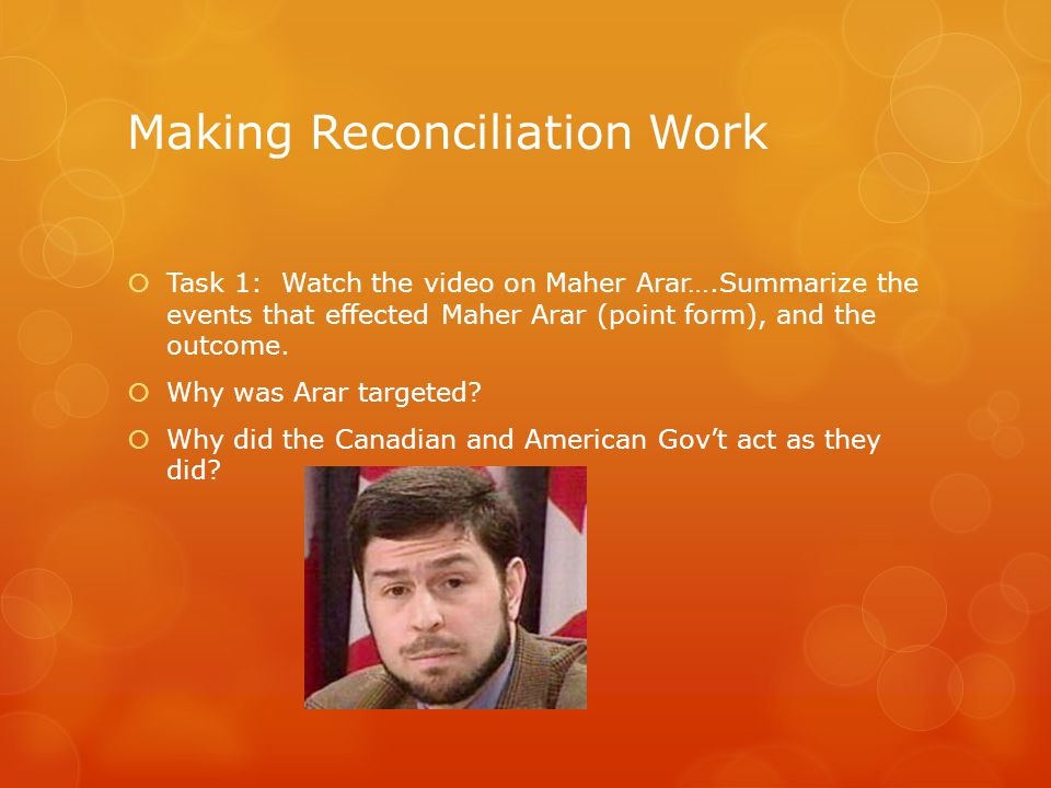 Making Reconciliation Work