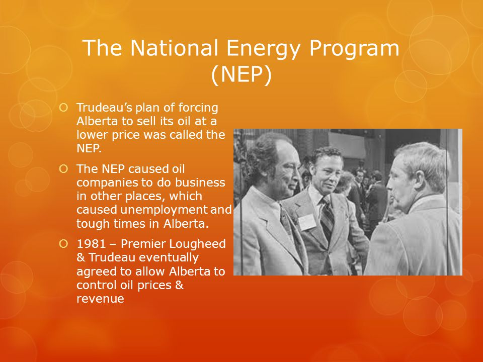 The National Energy Program (NEP)