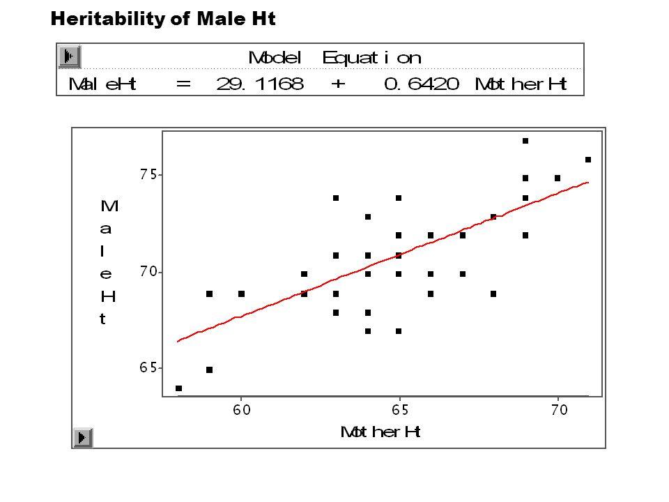 Heritability of Male Ht
