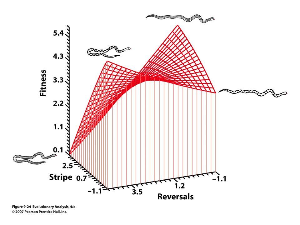 Figure 9.24 A multidimensional analysis of selection on antipredator defenses in garter snakes