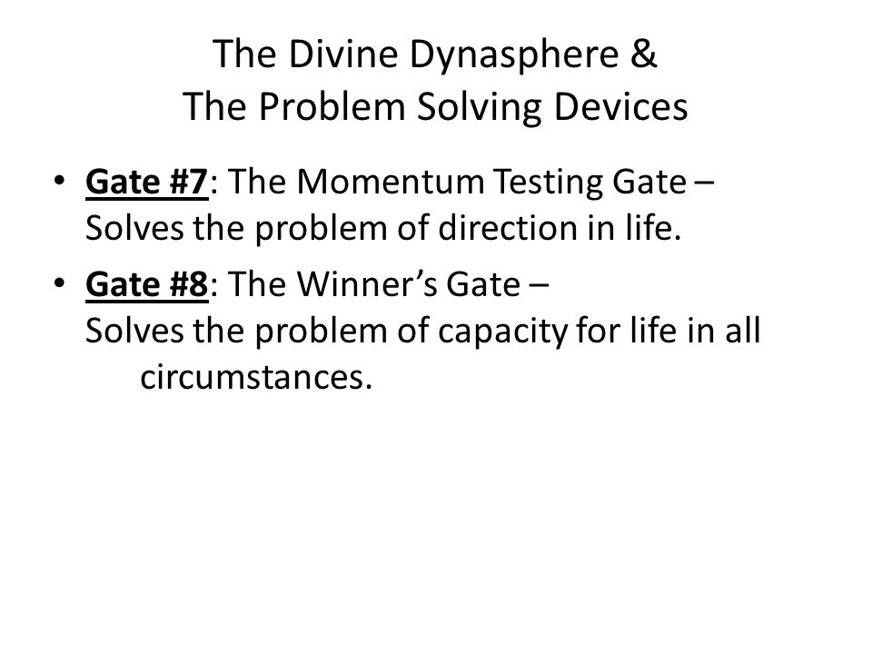 The Divine Dynasphere & The Problem Solving Devices