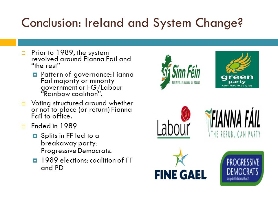 Conclusion: Ireland and System Change