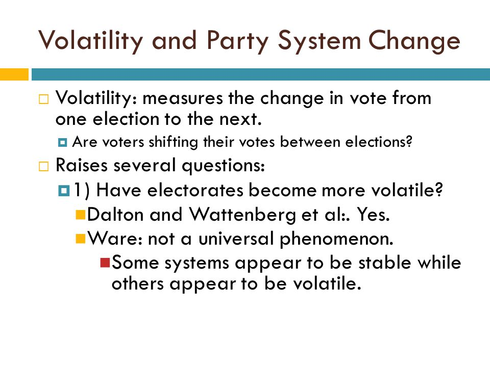 Volatility and Party System Change