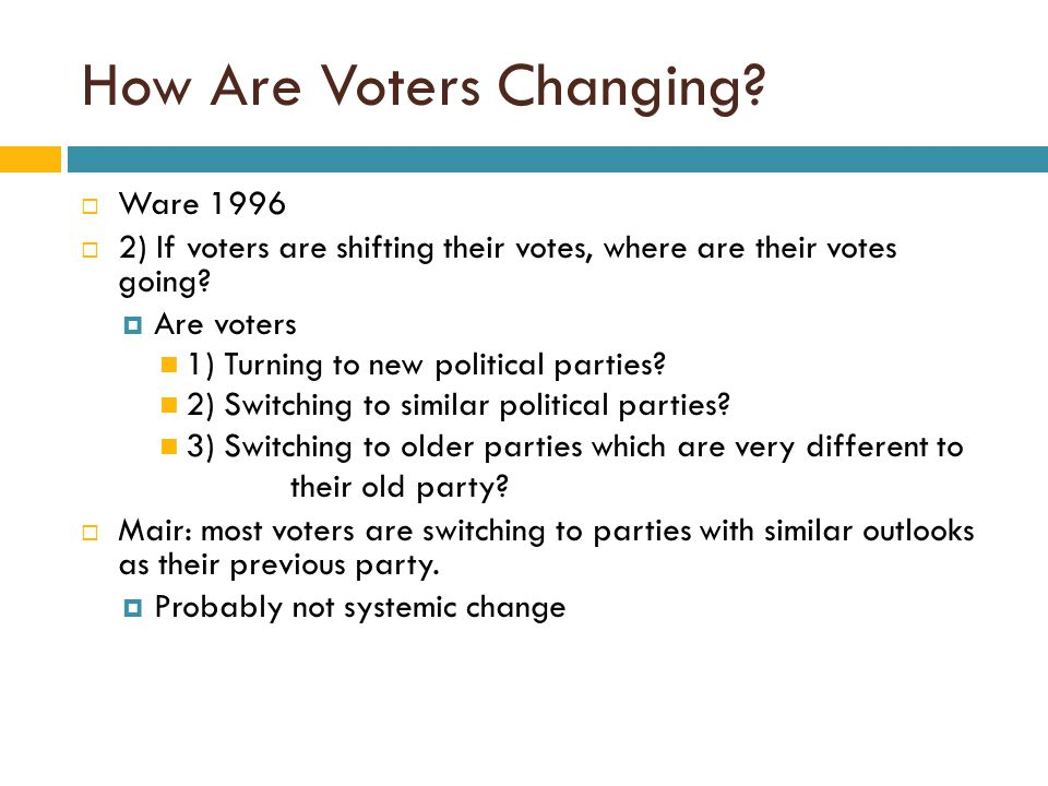 How Are Voters Changing